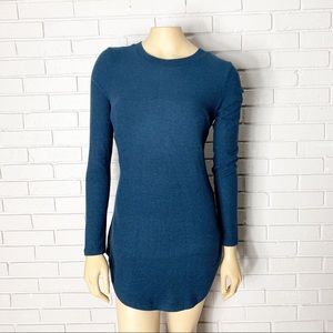 Anthropologie Postmark Blue Sweater W. Bow Detail